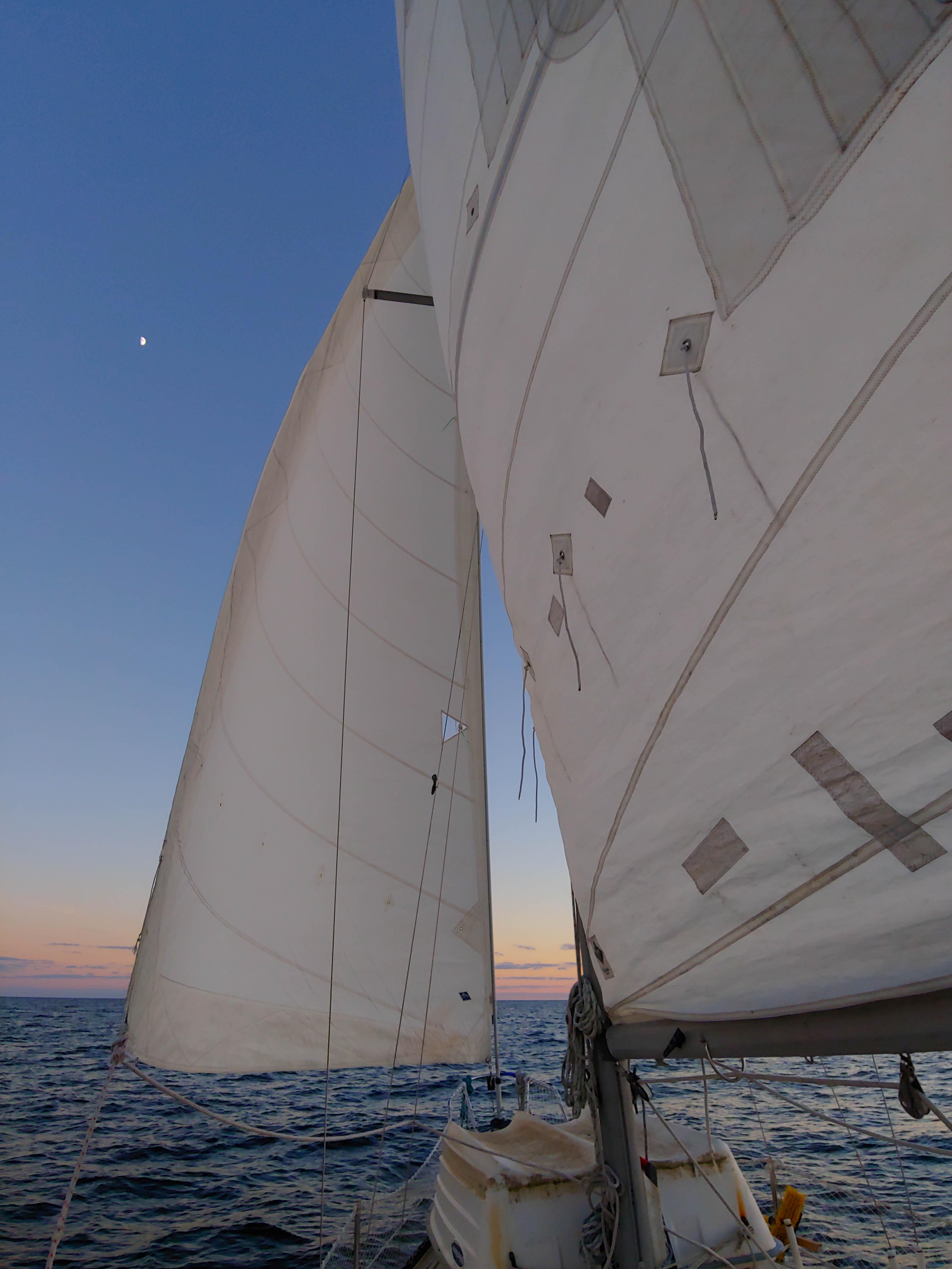 Sailing, sailboat, main sail, jib