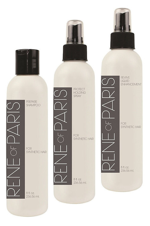 Wig Care Kit - Rene of Paris - 3 Pack Combo - Shampoo, Revive, Wig Spray