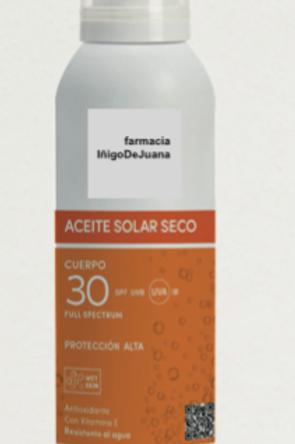 Aceite solar seco SPF 30 150 ml