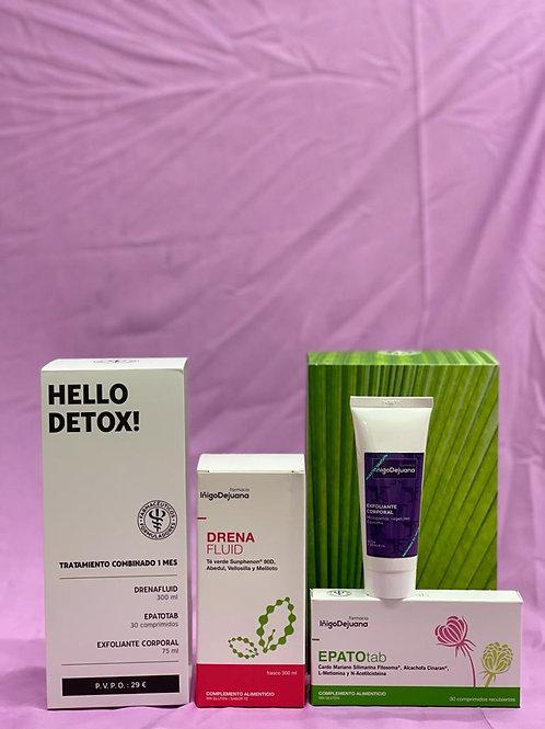 KIT Hello Detox (drenafluid + epatotab + exfoliante)