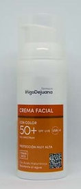 Crema Facial con color SPF 50+
