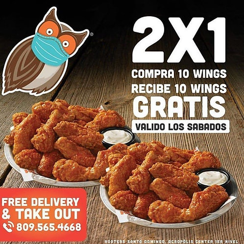 Hooters 2X1Wings