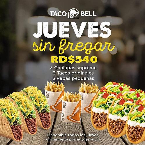 Taco Bell Jueves sin fregar
