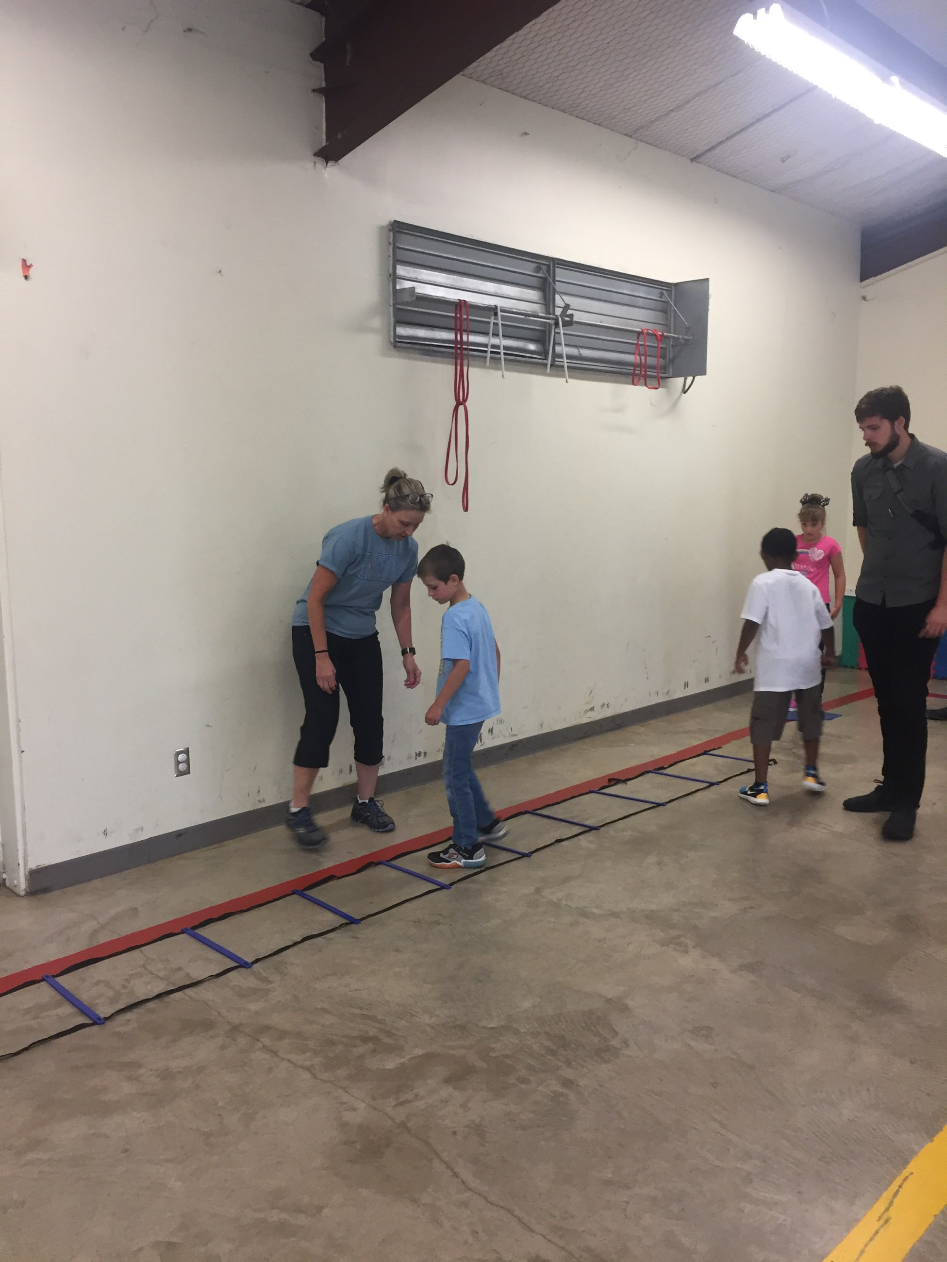 Agility Ladder Lateral Steps