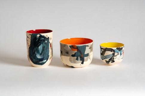 Medium vase, Medium bowl, teabowl