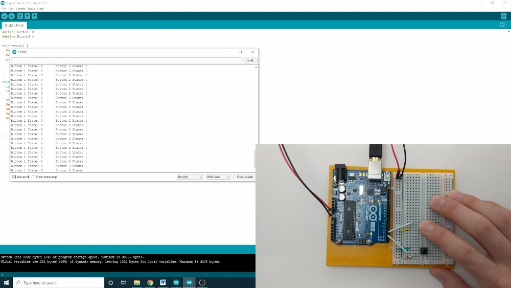 Using Arduino's Built in Pull Up Resistor