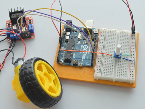 Controlling a DC Brushed Motor with the L298N Motor Controller