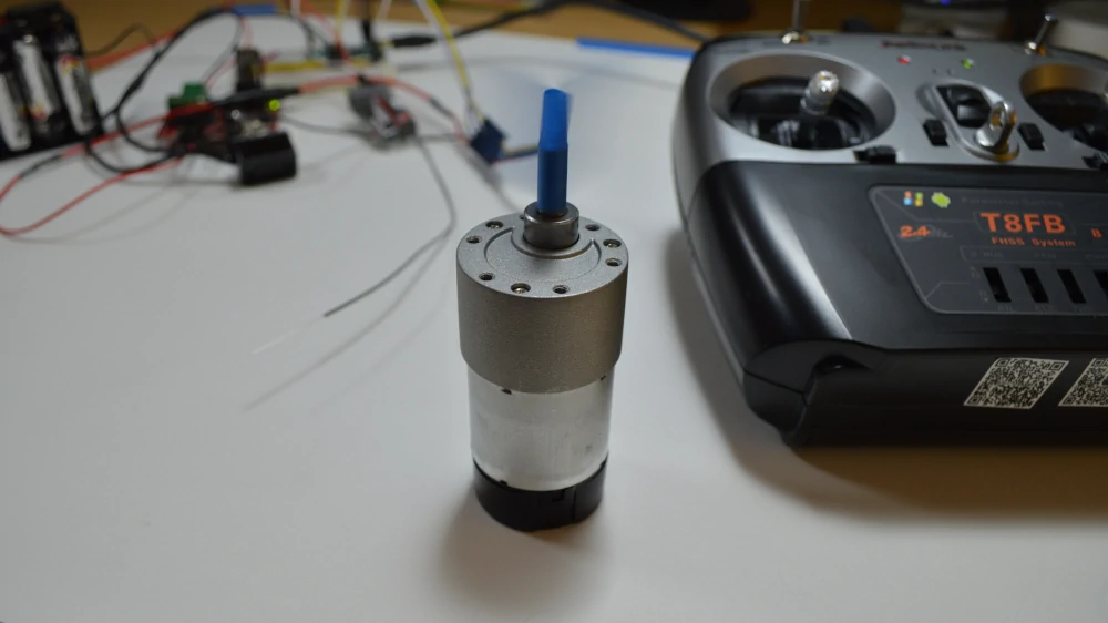 Running a brushed DC Motor with encoder, using a remote control