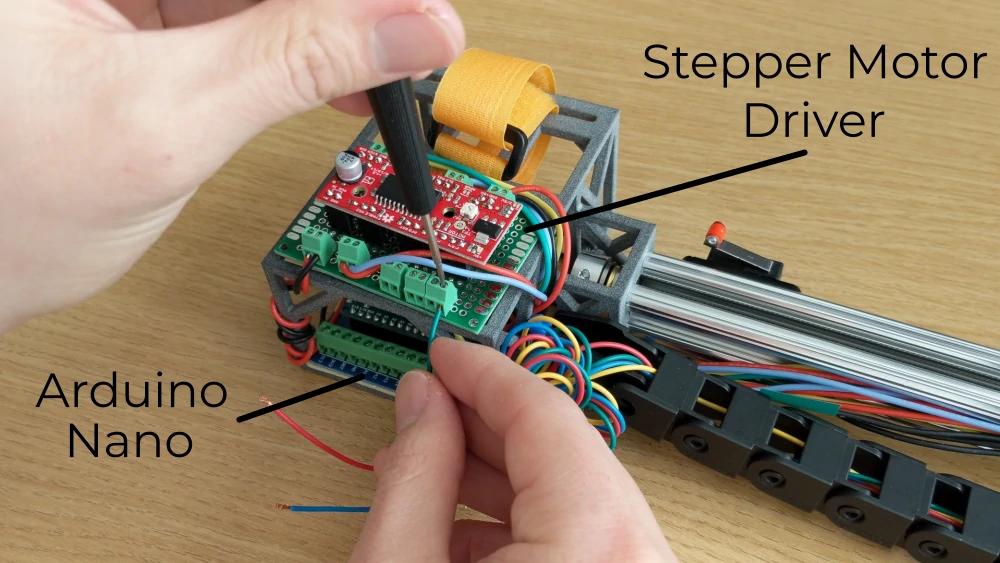 wiring a stepper motor driver and Arduino Nano