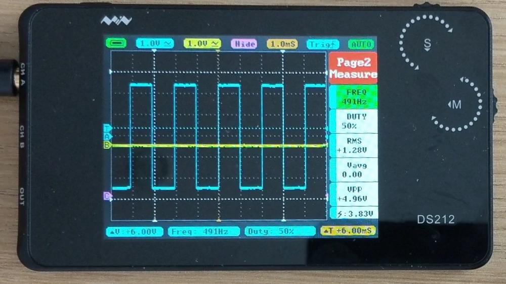 Nano oscilloscope with pulse width modulation signal (PWM)