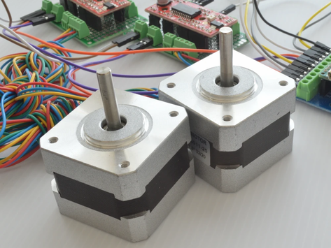 Simultaneously Controlling Stepper Motors with Arduino