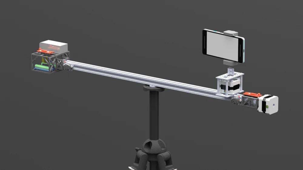 CAD model of camera phone slider design