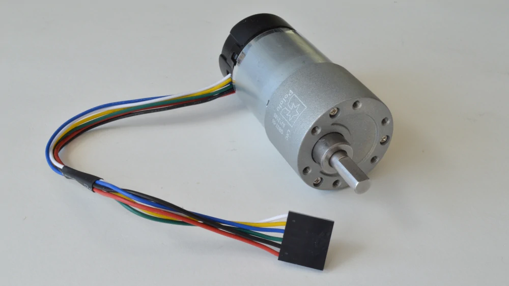 DC brushed gear motor with rotary encoder is closed loop and give information feedback