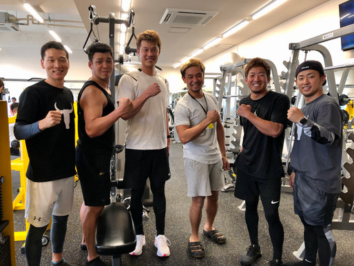 福岡ソフトバンクホークス・嘉弥真新也選手、岩嵜翔選手が自主トレ!
