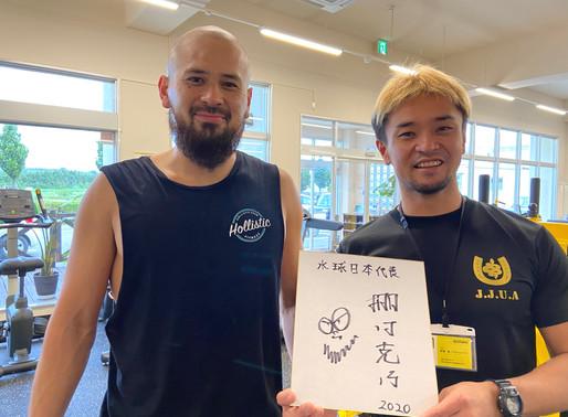 水球日本代表・棚村選手ご来店!