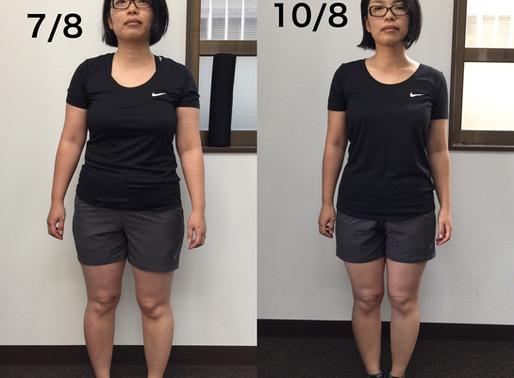 【38歳女性】3ヶ月モニタートレーニング終了!
