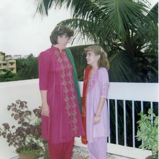 Belinda and Dacia in their Punjabi Suits