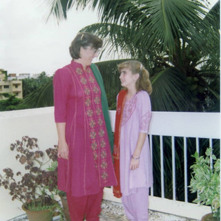 Belinda and Dacia in their Punjabi Suits