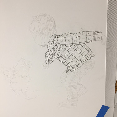 A peek into the illustrating process