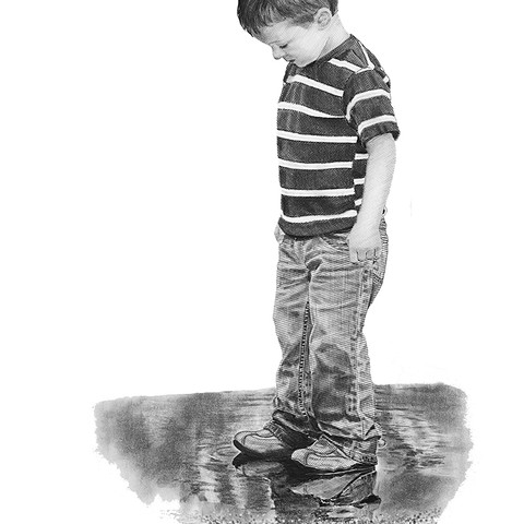 What fascination a puddle can hold!