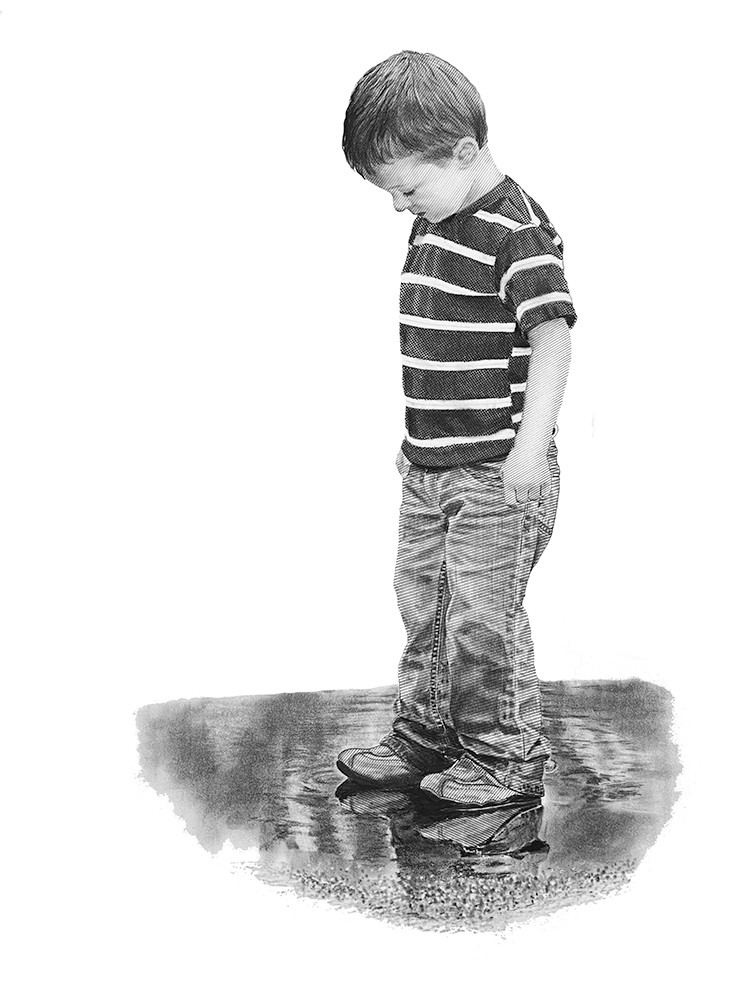 Oh what wonder a puddle can hold