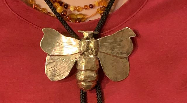 Moth Bolo Tie.I love her idea!_Student W