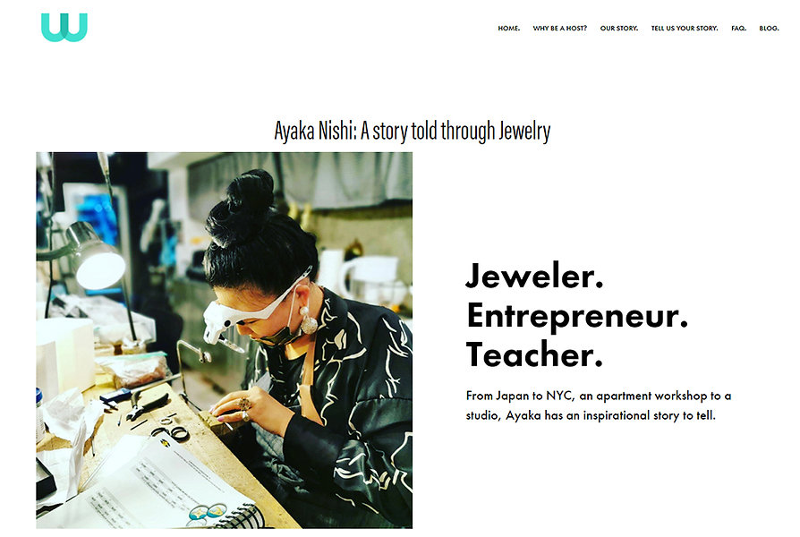 Press: trouvaiz, Jeweler, Enterpreneue, Teacher.