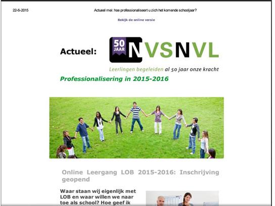 LOB123 in nieuwsbrief NVS-NVL