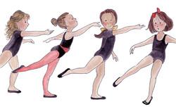 ballerinas in training