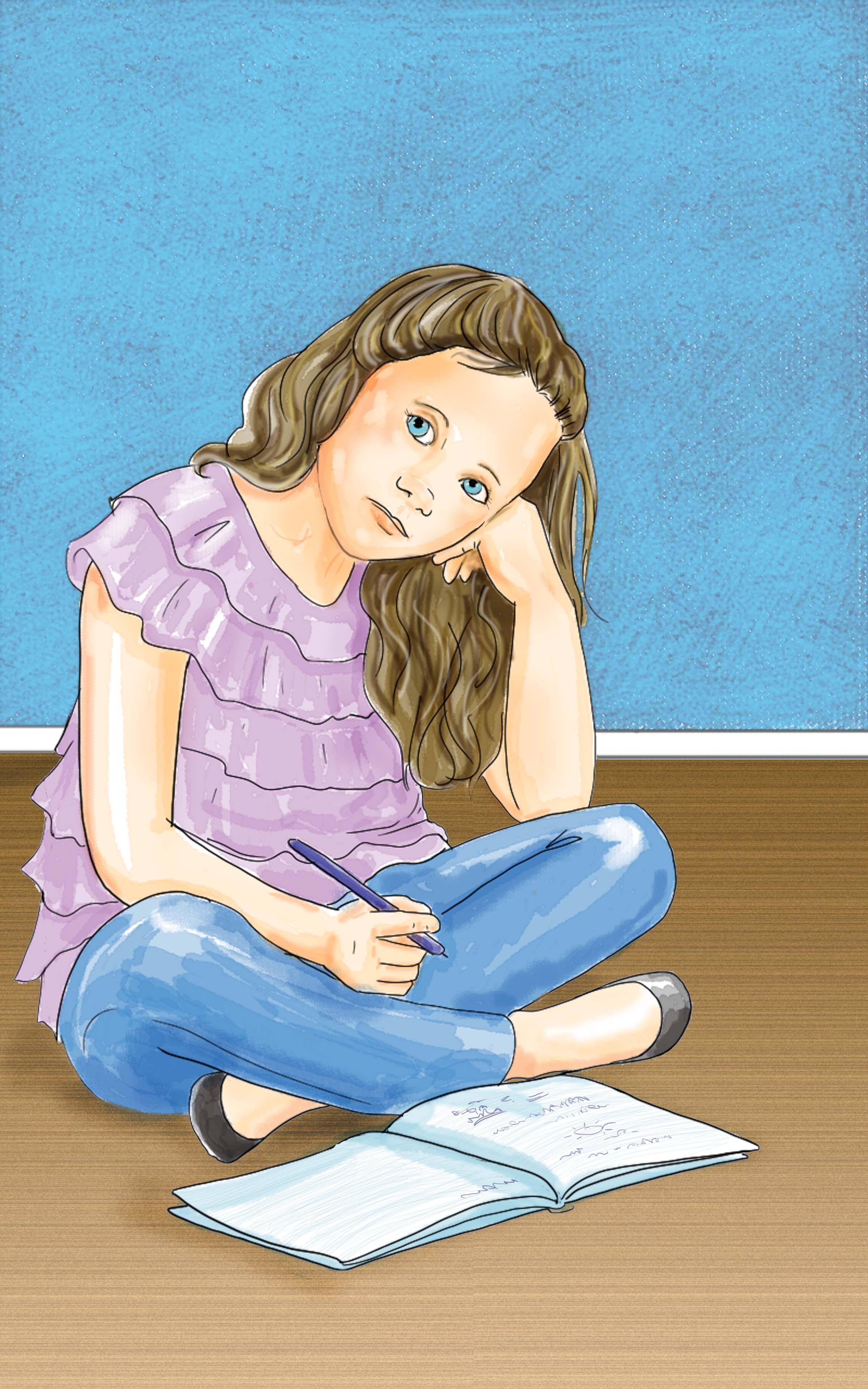 Tween Girl thinking