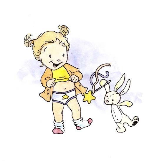bunny with wand