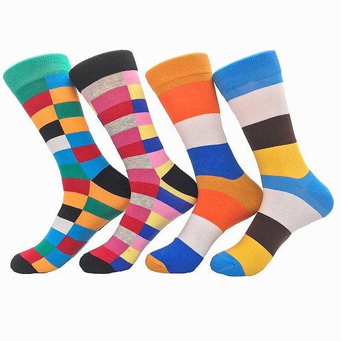 The Streaked Multicolor Sock