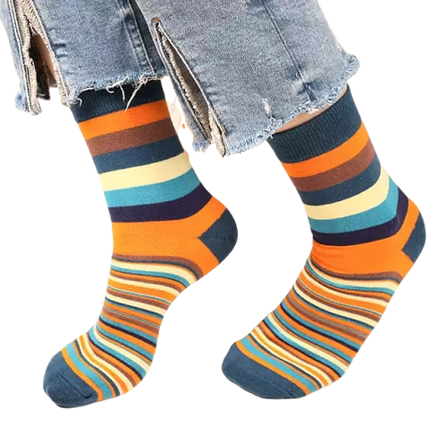 The Uneven Stripped Sock