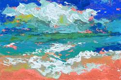 Seascape canvas painting