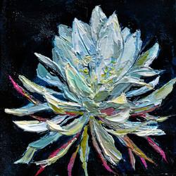Kadupul flower painting, queen of the night flower