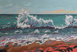 Abstract wave painting, sri lanka