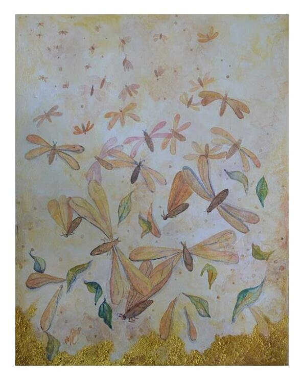 insect painting, termites, flying bugs