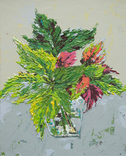 Abstract plant painting, texture
