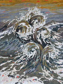 Abstract wave painting, texture