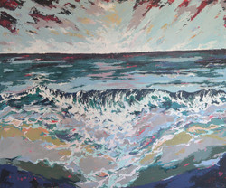 Ocean and Beach painting inspired by Sri lanka