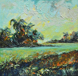 abstract landscape painting, rice fields, painting on sale