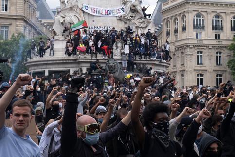 Manifestation contre les violences policières, à l'appel du collectif La vérité pour Adama. 13/06/2020. Paris.