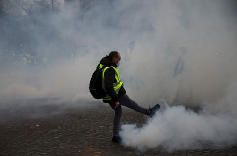 Acte IX du mouvement des gilets jaunes. 12/01/2019. Paris.