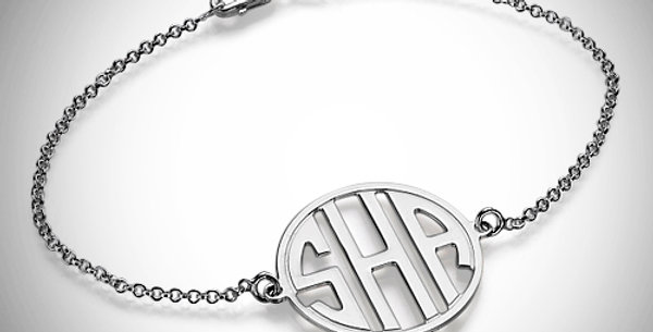 Monogram Bracelet Cutout Block