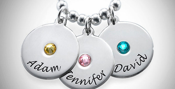Name Discs with Birthstone