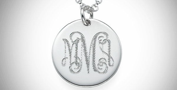Monogram Disc - Hanging