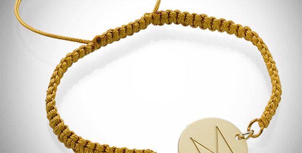 Shamballa Initial Bracelet