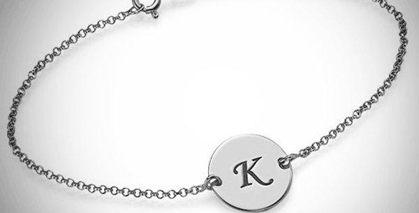Initial Disc Bracelet