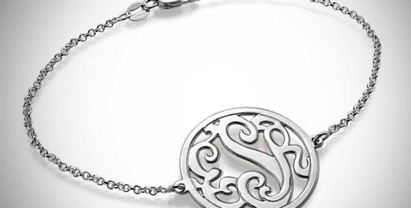 Monogram Bracelet Cutout Swirl