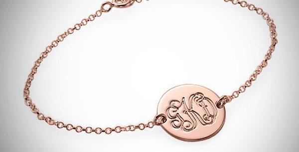 Monogram Disc Bracelet